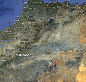 merzouga - mapa